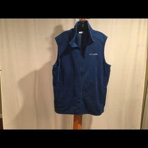 Columbia royal blue fleece vest XLT